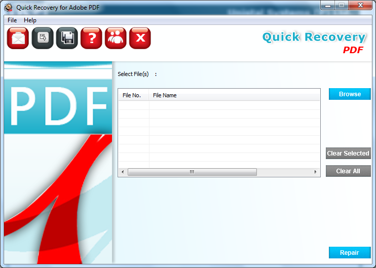 Quick Recovery For PDF File